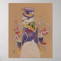"16"" x 20"", Mad Hatter Ferret Poster (Matte)"