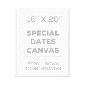 """16"""" x 20"""" Special fecha la lona Lona Envuelta Para Galerias"""
