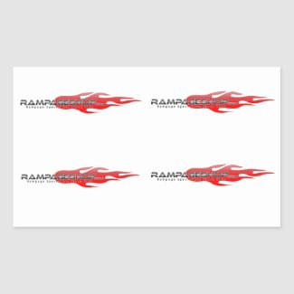 16 x Decal / Sticker Sheet - RampageShop Logo