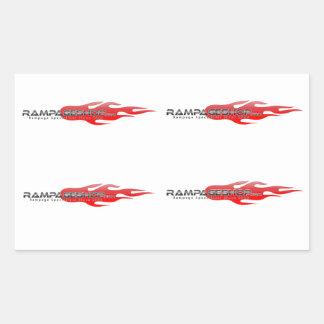 16 x Decal / Sticker Sheet - RampageShop Logo
