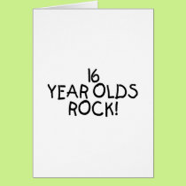 16 Year Olds Rock Card