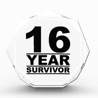16 year survivor acrylic award