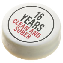 16 Years Clean and Sober Chocolate Dipped Oreo