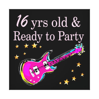 16 YEARS OLD AND READY TO PARTY CANVAS PRINT