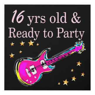 16 YEARS OLD AND READY TO PARTY PANEL WALL ART