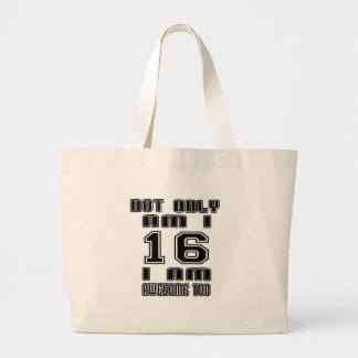16a16 I AM AWESOME TOO Large Tote Bag