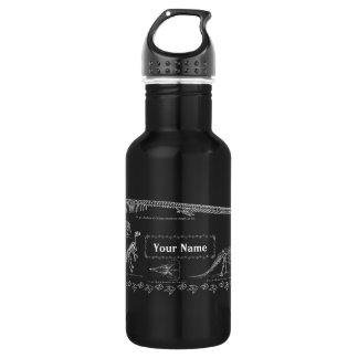 16oz Dinosaur Fossils Custom (White) Stainless Steel Water Bottle
