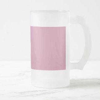 16Oz Frosted Glass Mug-Red Rose Frosted Glass Beer Mug