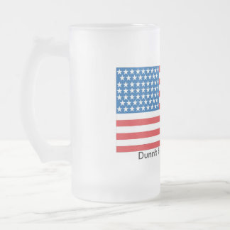 16oz Frosted Glass Patriotic Frosted Glass Beer Mug