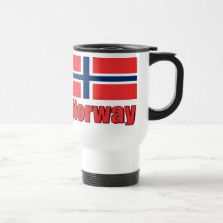 16oz White Travel Mug Norway\Flag