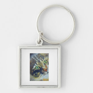 16Pussycat - Raine.jpg Silver-Colored Square Keychain
