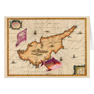 16th/17th Century Nautical Map Happy Birthday Card