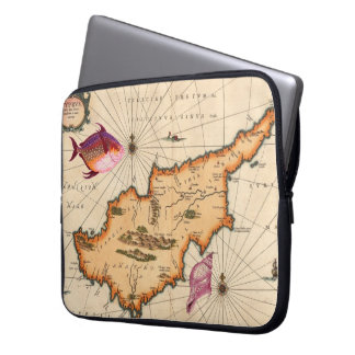 16th/17th Century Nautical Map Laptop Computer Sleeves