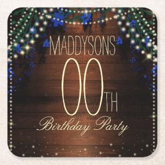 16th 18th 21st 30th 40th 50th 60th 70th Birthday Square Paper Coaster