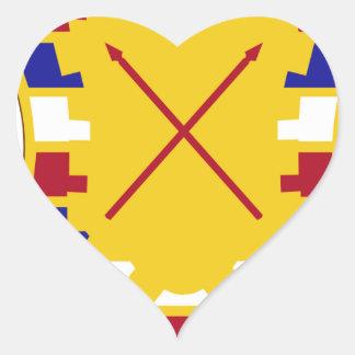 16th Antiaircraft Artillery Gun Battalion Heart Sticker