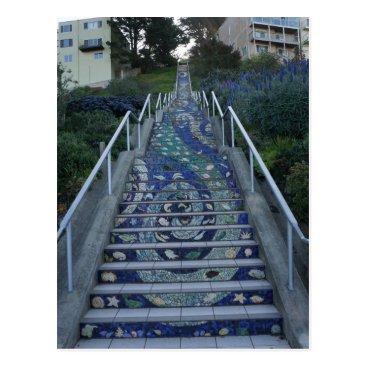 everydaylifesf 16th Avenue Tiled Steps Postcard