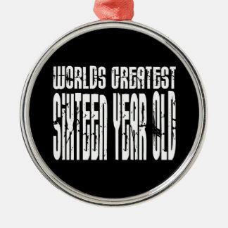 16th Birthday 16  Worlds Greatest Sixteen Year Old Christmas Tree Ornaments