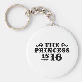 16th Birthday Basic Round Button Keychain