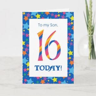 son 16th birthday cards zazzle