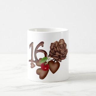 16th Birthday chocolate hearts and rose Coffee Mug