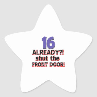 16th birthday designs star sticker
