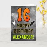 [ Thumbnail: 16th Birthday: Eerie Halloween Theme + Custom Name Card ]