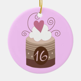 16th Birthday Gift Ideas For Her Double-Sided Ceramic Round Christmas Ornament
