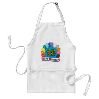 16th Birthday Gifts with Assorted Balloons Design Aprons