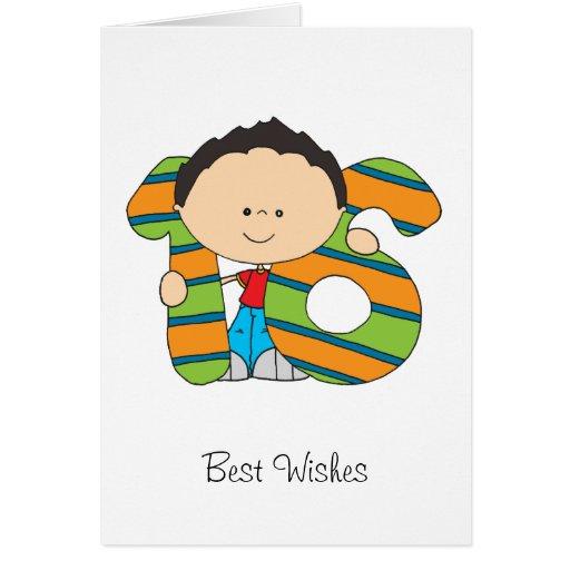 16th Birthday - Greetings Card - Boy