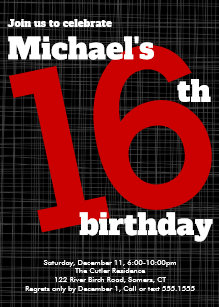 red and black birthday invitations zazzle