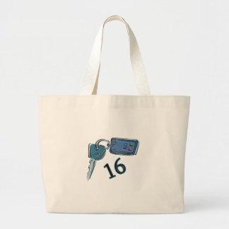 16th Birthday Keys Gifts Tote Bags