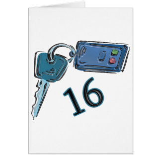 16th Birthday Keys Gifts Greeting Cards