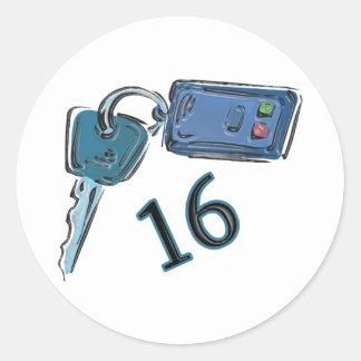 16th Birthday Keys Gifts Classic Round Sticker