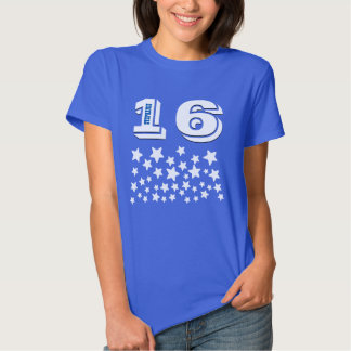 16th Birthday or ANY YEAR Burst of WHITE Stars A02 Shirt