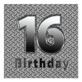 16th BIRTHDAY PARTY INVITATION - METAL