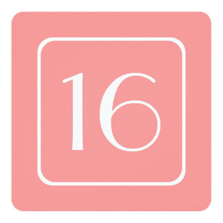 16th Birthday Party Template PINK CORAL V04