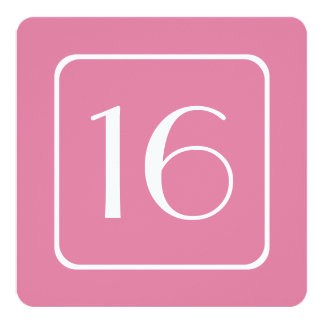 16th Birthday Party Template PINK PEONY V05