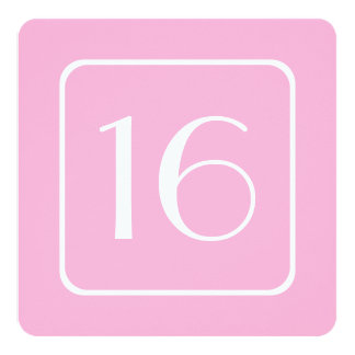 16th Birthday Party Template PINK V01