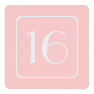 16th Birthday Party Template SHELL PINK V12