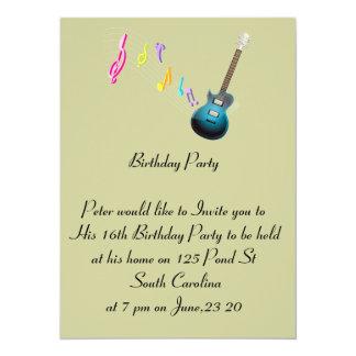 16th Birthday Photo Card Music Rock