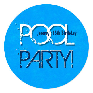 16th Birthday Pool Party Save the Date P04Z Card