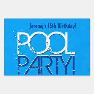 16th Birthday Pool Party Save the Date P04Z Sign