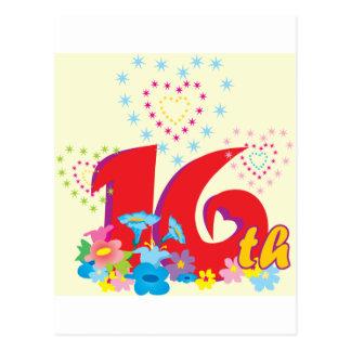 16th birthday postcard