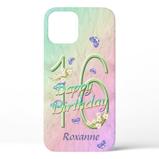 16th Birthday Rainbow iPhone Case