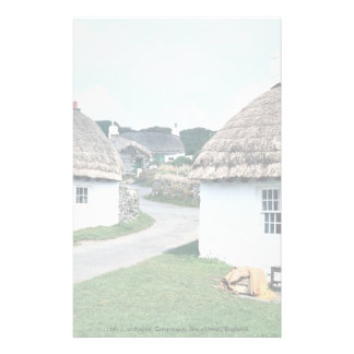 16th c. cottages, Cregneash, Isle of Man, England Stationery
