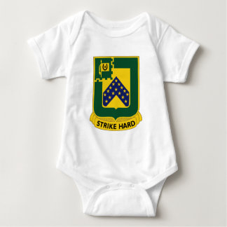 16th Cavalry Regiment-Insignia Color Patch Baby Bodysuit