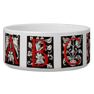 16th Century Alphabet Pet Bowl