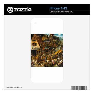 16th Century Dutch Art & Famous Proverb iPhone 4 Decals