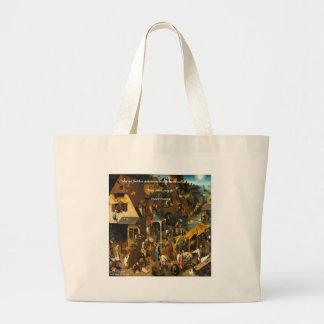 16th Century Dutch Art & Famous Proverb Large Tote Bag