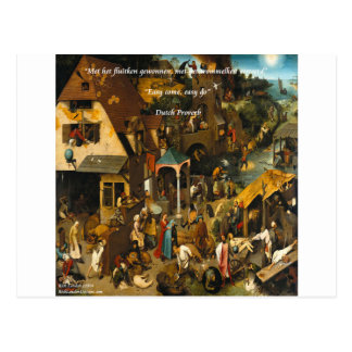16th Century Dutch Art & Famous Proverb Postcard